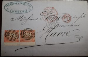 O) 1870 BRITISH OFFICE B 32- BUENOS AYRES - DRUMILLONY CRENIAULT, BUENOS