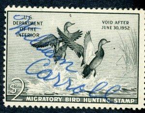 #RW18 – 1951 $2.00 Gadwall Ducks. Used.