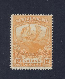 Newfoundland  Stamp #123-12c Trail of Caribou MH Fine Guide Value = $70.00