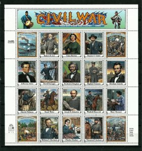 PCBstamps   US #2975 Sheet $6.40(20x32c)Civil War, MNH, (9)