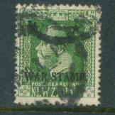 New Zealand  SG 452  Used    opt war stamp