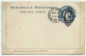 MEXICO 5c lettercard 1899 CTO 1900.........................................58753