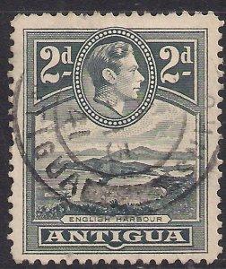 Antigua 1938 – 51 KGV1 2d Slate Grey SG 101 ( M766 )