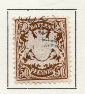 Bayern Bavaria 1881 Early Issue Fine Used 50pf. NW-120723