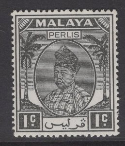 MALAYA PERLIS SG7 1951 1c BLACK MTD MINT