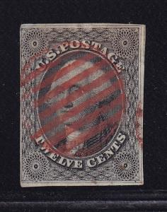 17 F-VF used neat red cancel with nice color cv $ 280 ! see pic !