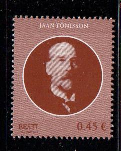 Estonia Sc 747 2013 Jaan Tonisson stamp mint NH