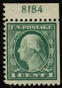 US #498 SUPERB JUMBO mint hinged with plate number,  super rare from booklet ...