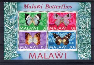 Malawi 1973 Sc#202a BUTTERFLIES Souvenir Sheet MNH