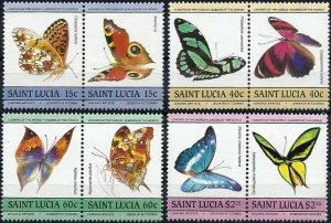 1985 St. Lucia Butterflies, Papillons, Farfalle complete set VF/MNH! LOOK!