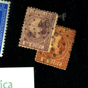 Netherlands #9,11 Used Ave Fine Cat$145