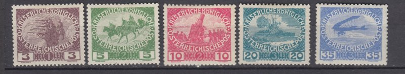J29469, 1915 austria set mh/mhr  #b3-7 military
