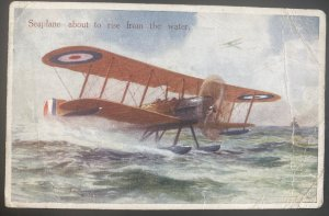 1919 Weston England Picture Postcard Cover To  Mahern Seaplane About To Rise