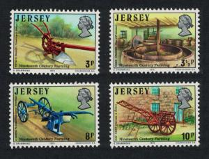 Jersey Nineteenth-century Farming 4v SG#119-122