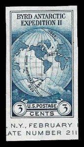 PCBstamps      US # 735a S.S. sgl. 3c Byrd Antarctic, MNH, (18)