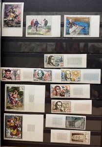 HERRICKSTAMP FRANCE Mint NH Imperf Collection in 3 Stock Books Years 1954-1996