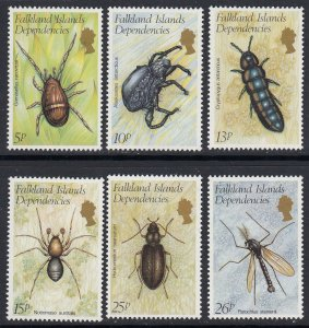 Falkland Dependencies 1L66-71 Insects mnh