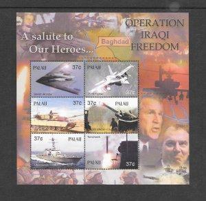 PALAU #726  OPERATION IRAQI FREEDOM   MNH