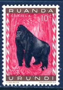 Ruanda Urundi 1959; Sc. # 137; */MH Single Stamp