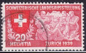 Switzerland 251 USED 1939 Swiss Family Reading