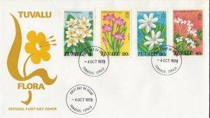 BC734) Tuvalu 1978 Flora fdc