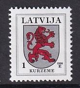 Latvia   #363c  1998   MNH   1s  Arms  Kurzeme 1998