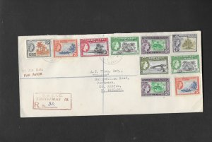 CHRISTMAS ISLAND 1960 REGISTERED COVER TO IRELAND