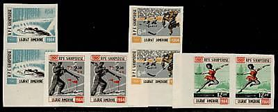 Albania 706-9 Imperf Pairs MNH Olympic Sports, Hockey