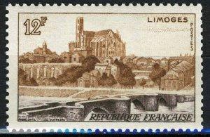 France 1955, 12 Fr Landscape Limoges VF MNH, Mi 1045