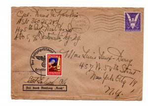 1945 : army - letter on old german letter,