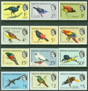 BRITISH HONDURAS : 1962. Stanley Gibbons #202-13 Birds. VF, Mint NH. Cat £80.00