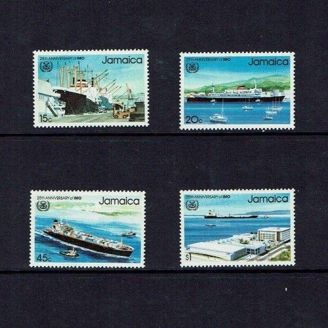Jamaica: 1983, 25th Anniv. of the International Maritime Organisation,  MNH set