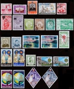 Philippines Scott 629 // 997 (1956-68) Used/Mint H F-VF, CV $15.75 Y