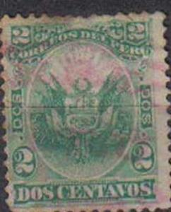 PERU, 1886, used 2c, Re-issue of 1866 and 1874