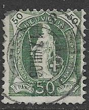 Switzerland 109 used 2013 SCV $7.25 - upper left corner there, just cancel marks