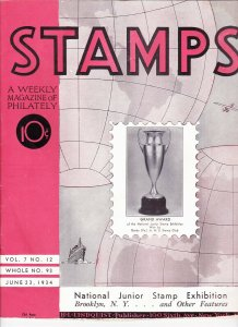 Stamps Weekly Magazine of Philately June 23, 1934 Stamp Collecting Magazine