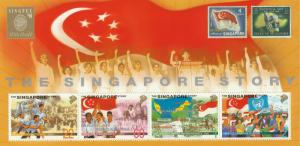 1998 SINGPEX '98 Exhibition Souvenir folder featuring Singapore Story MNH