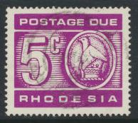 Rhodesia   SG D20 SC# J17  Used  / FU  Postage Due  see details