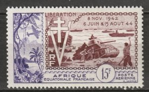 French Equatorial Africa 1954 Sc C38 air post MLH*