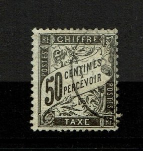 France SC# J21, Used, shallow center thin - S9537