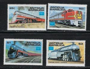 Antigua 934-37 NH 1986 Trains set