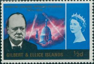 Gilbert & Ellice Islands 1966 SG106 ½d Churchill MLH