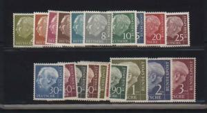 Germany #702 - #721 VF/NH Set