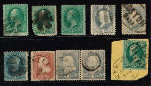 US STAMP 19TH OLD USED STAMPS  COLLECTION LOT #F1