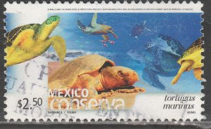 MEXICO CONSERVA 2396, $2.50P MARINE TURTLES. USED. VF. (1179)