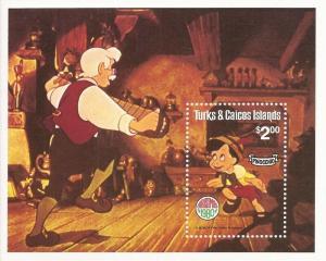 Turks & Caicos - 1979 Disney Pinocchio - Souvenir Sheet - Scott #451