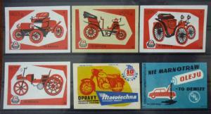 Match Box Labels! automobile car motorcycle vehicle yugoslavia GJ17