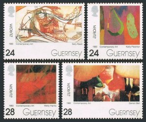 Guernsey 511-514,MNH.Michel 608-611. EUROPE CEPT-1993.Contemporary Art.