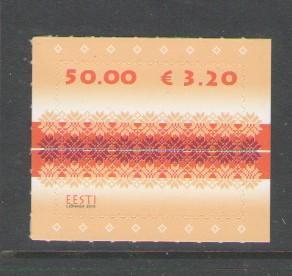 Estonia Sc 630 2010 50k fabric stamp mint NH