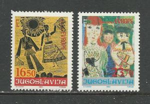 Yugoslavia Scott catalogue # 1641-1642 Mint NH